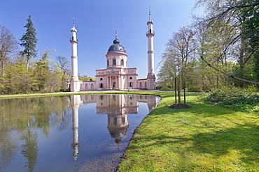 Mosque in Castle Gardens, Schloss Schwetzingen Palace, Schwetzingen, Baden-Wurttemberg, Germany, Europe