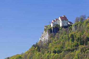 Schloss Werenwag (Werenwag Castle), Hausen an der Donau, Danube Valley, Upper Danube Nature Park, Swabian Alb, Baden-Wurttemberg, Germany, Europe