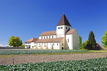 St. Georg church, Oberzell, UNESCO World Heritage Site, Reichenau Island, Lake Constance, Baden-Wurttemberg, Germany, Europe