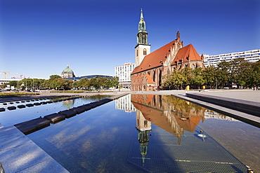 Marienkirche church, Alexanderplatz, Berliner Cathedral, Berlin Mitte, Berlin, Germany, Europe