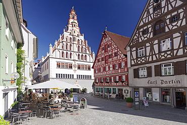 Town hall, Bad Waldsee, Upper Swabian Baroque Route, Upper Swabia, Baden-Wurttemberg, Germany, Europe