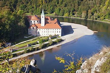 Weltenburg Monastery, Danube River, near Kelheim, Bavaria, Germany, Europe