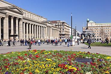 Schlossplatz square, Koenigsbau shopping centre, pedestrian area, Stuttgart, Baden Wurttemberg, Germany, Europe