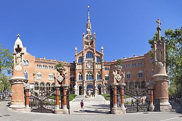 Sant Pau Hospital, Lluis Domenech i Montaner, UNESCO World Heritage Site, Modernisme, Barcelona, Catalonia, Spain, Europe