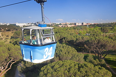 Teleferico, cable car, Casa de Campo Park, Madrid, Spain, Europe