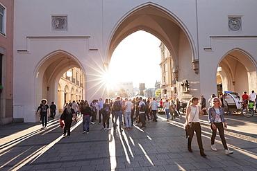 Karlstor gate, Stachus, Neuhauser Street, Munich, Bavaria, Germany, Europe