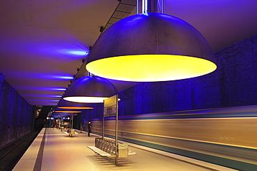 Subway station Westfriedhof, Munich, Bavaria, Germany, Europe