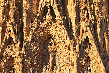 Facade of the Nativity, Sagrada Familia, by architect Antonio Gaudi, UNESCO World Heritage Site, Barcelona, Catalonia, Spain, Europe