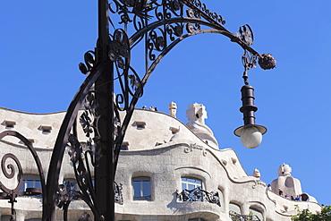 Casa Mila (La Pedrera), Antonio Gaudi, Modernisme, UNESCO World Heritage Site, Eixample, Barcelona, Catalonia, Spain, Europe