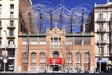 Fundacio Antoni Tapies, Museum, architect Lluis Domenech i Montaner, Barcelona, Catalonia, Spain, Europe
