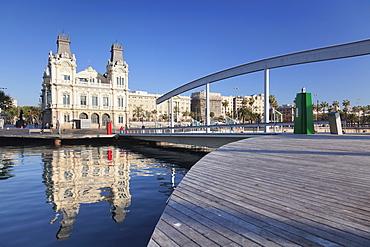 Port Vell at Rambla del Mar, Barcelona, Catalonia, Spain, Europe