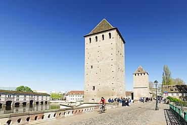Ponts Couverts, Ill River, Barrage Vauban, UNESCO World Heritage Site, Strasbourg, Alsace, France, Europe