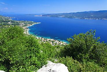 View from the Peninsula of Peljesac to Korcula Island, Dalmatia, Croatia, Europe