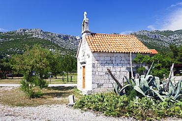 Chapel at the beach of Viganj, near Orebic, Peljesac, Dalmatia, Croatia, Europe