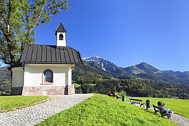 Chapel on Lockstein Mountain in Bavaria, Germany, Europe
