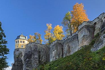 Friedrichsburg, Maison de plaisance, Koenigstein Fortress, Saxony Switzerland National Park, Saxony, Germany, Europe