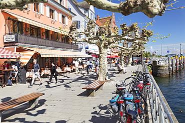Promenade, Meersburg, Lake Constance, Baden-Wurttemberg, Germany, Europe