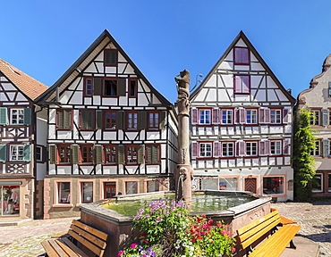 Market Place, Schiltach, Black Forest, Kinzigtal Valley, Baden-Wurttemberg, Germany, Europe