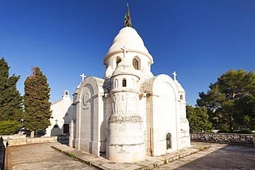 Mausoleum of the Petrinovic family, Kap Sv. Nikolaus, Supertar, Brac Island, Dalmatia, Croatia, Europe