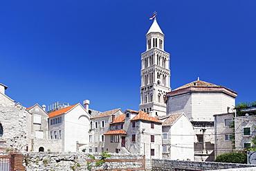 St. Dominus (Sveti Duje) Cathedral, Diocletian's Palace, UNESCO World Heritage Site, Split, Dalmatia, Croatia, Europe