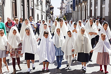 Easter procession Semana Santa, Vegueta old town, Las Palmas, Gran Canaria, Canary Islands, Spain, Europe