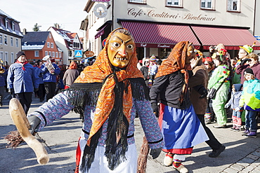 The figure of the Witch, Swabian Alemannic Carnival, Gengenbach, Black Forest, Baden Wurttemberg, Germany, Europe