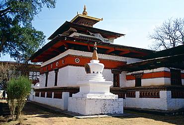 Buddhist Kyichu Temple in Bhutan