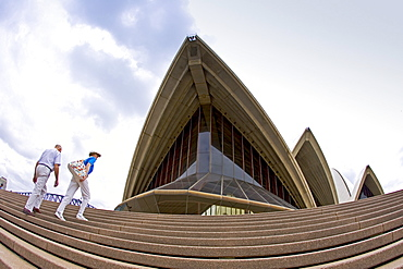 Tourists at Sydney Opera House, Australia