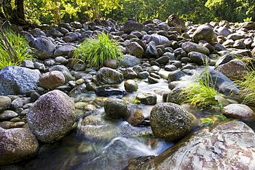The Mossman riverbed, Daintree Rainforest, Queensland, Australia
