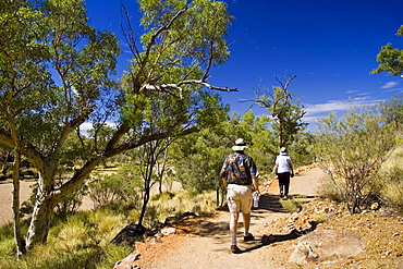 Tourists at Simpson's Gap, in West Madonnell Mountain Range, Red Centre, Australia