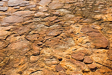Cracked Mereenie sandstone at King's Canyon, Northern Territory, Australia