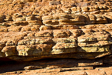 Sandstone domes in shape of beehives at King's Canyon, Red Centre, Australia