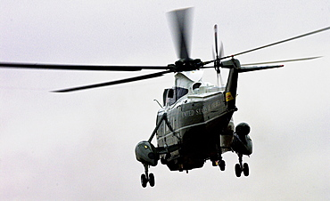 Presidential helicopter leaves London with George W Bush on board after his official visit to Britain