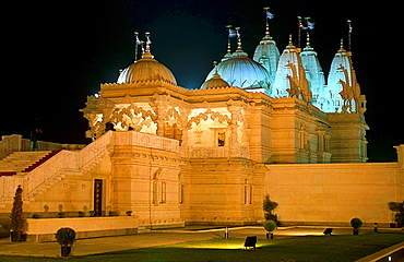 Shri Swaminarayan Mandir Temple for Hindu worship in Neasden, North London, England