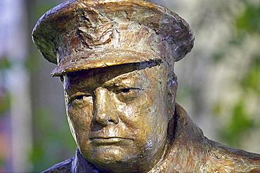 Sir Winston Churchill bronze statue in Paris, France