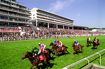 DERBY DAY RACE TAKING PLACE AT THE EPSOM RACECOURSE