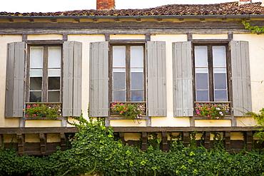 Window shutters, Labastide d'Armagnac, France