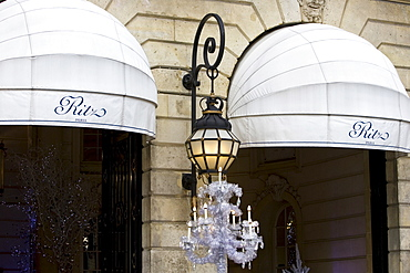 Ritz Hotel awnings in Place Vendome, Paris, France