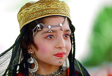 Young girl  in traditional clothing, Pakistan.