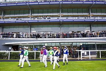 Jockeys at Ascot Racecourse, Berkshire, England, United Kingdom