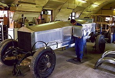 Restoration of a rare vintage Rolls Royce, Gloucestershire, England