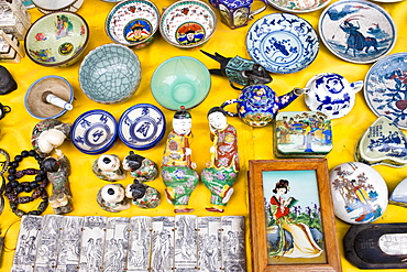 Souvenirs on sale in a gift shop at Fuli, near Xingping, China