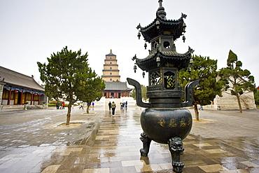 Big Wild Goose Pagoda, Tang dynasty architecture, Xian, China
