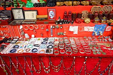 Souvenir stall in Ping An near Guilin, China