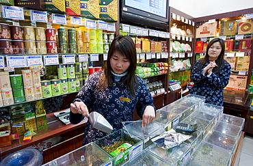 Tea shop in the Yu Garden Bazaar Market, Shanghai, China