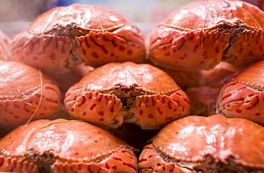 Steaming crabs in the Night Market, Wangfujing Street, Beijing, China