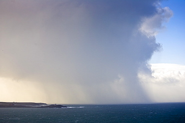 Storm brewing on the Padstow coastline, Cornwall, United Kingdom