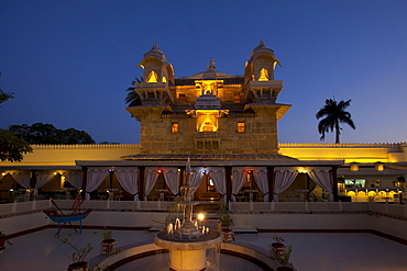 Jagmandir Island Palace and  Darikhana Restaurant owned by 76th Maharana of Mewar, His Highness, Shreeji Arvind Singh Mewar of Udaipur, Rajasthan, India