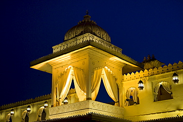 Jagmandir Island Palace part of The City Palace Complex owned by 76th Maharana of Mewar, His Highness, Shreeji Arvind Singh Mewar of Udaipur, Rajasthan, India