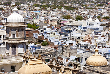 View of Udaipur from The City Palace of 76th Maharana of Mewar, His Highness, Shriji Arvind Singh Mewar of Udaipur, Rajasthan, India
